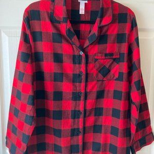 Flannel Check Pajama Top by Target Medium New